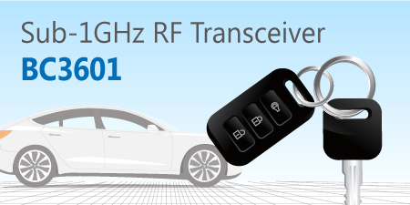 HOLTEK New BC3601 Sub-1GHz FSK/GFSK RF Transceiver IC
